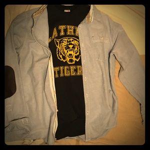 Vintage Combo - athletic sweater/stylish collared